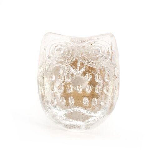 1x petit hibou verre transparent Armoire Tiroir Cabinet Porte Poignée Knob Pull
