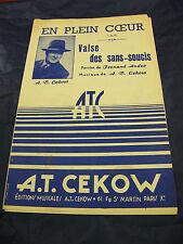 Partition En plein coeur Valse des sans-soucis de A.T. Cekow