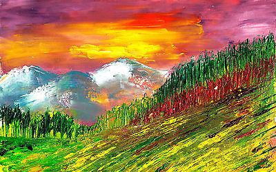 Poster A3 Pintura Paisaje Natural Nature Landscape Painting Cartel Decor 02