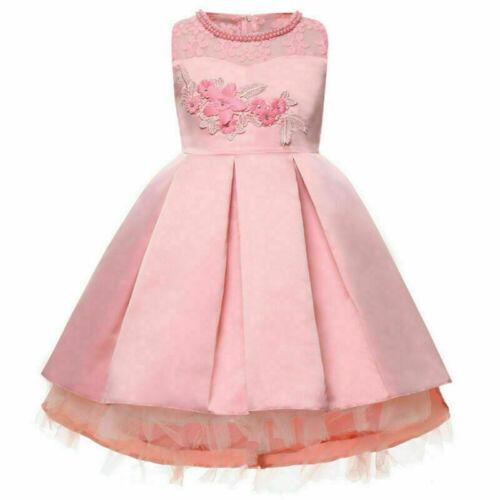 Girl Princess Kid Baby Party Gown Wedding Flower Bridesmaid Formal Tutu Dresses