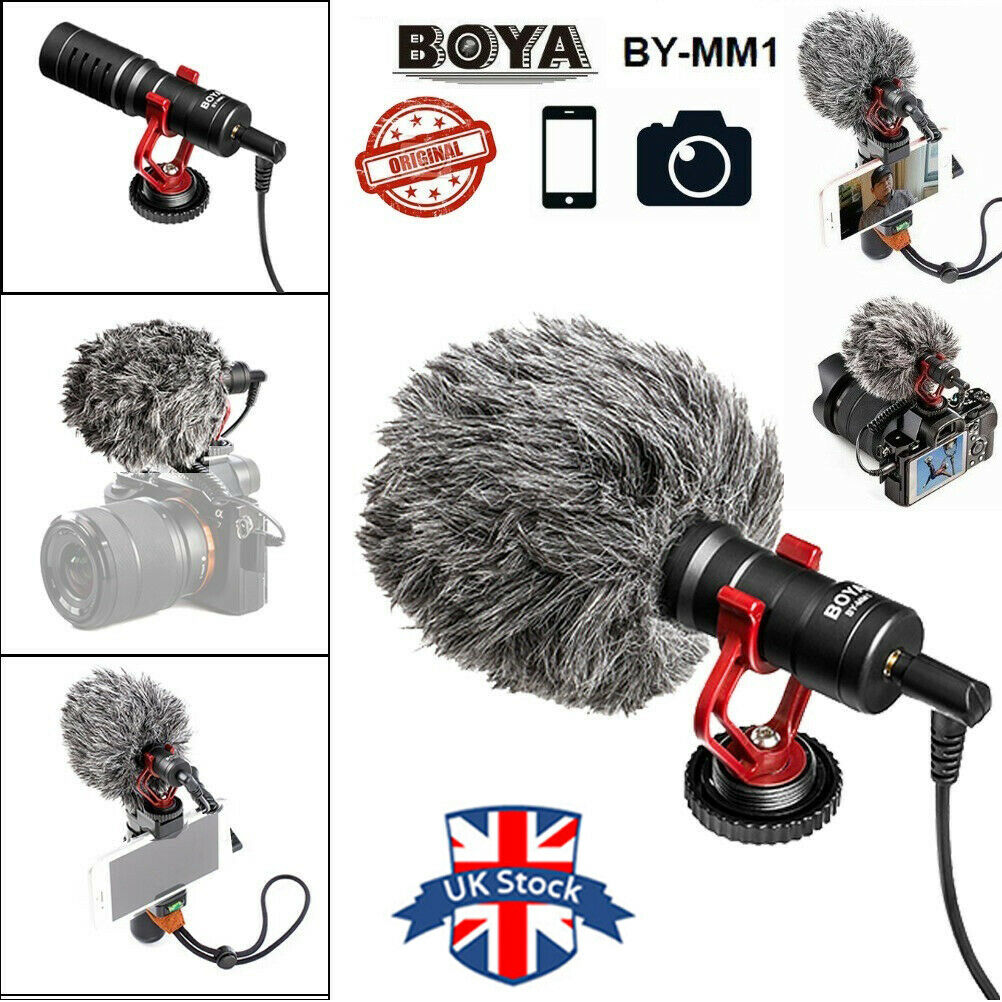 UK BOYA BY-MM1 Video Recording smartphone microphone for Smartphone DSLR Camera