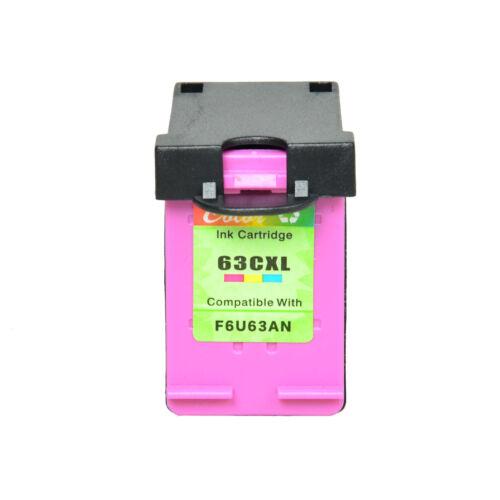 2PK 63-XL Black F6U64A Color F6U63A Ink Cartridge Set For HP 63XL ENVY 4520 5258