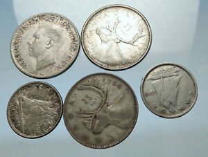 GROUP-LOT-of-5-Old-SILVER-Europe-or-Other-WORLD-Coins-for-your-COLLECTION-i67947