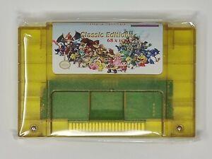Super 68 in 1 Nintendo SNES Game Cartridge 16-Bit Multicart NTSC Free Shipping