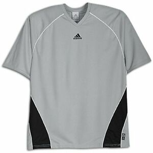 a23ded227a8b adidas Men s Avantis Soccer Jersey Silver   Black with CLIMALITE ...