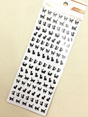 1 x sheet Black Cat stickers scrapbook DIY Cute Mini  #112