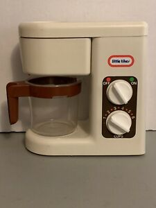 Rare Vintage Little Tikes Play Kitchen Coffee Maker Carafe Pot Complete Set Ebay