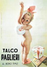 """TARGA VINTAGE """"TALCO PAGLIERI """" PUBBLICITA', ADVERTISING, COSMETICI,POSTER PLATE"""