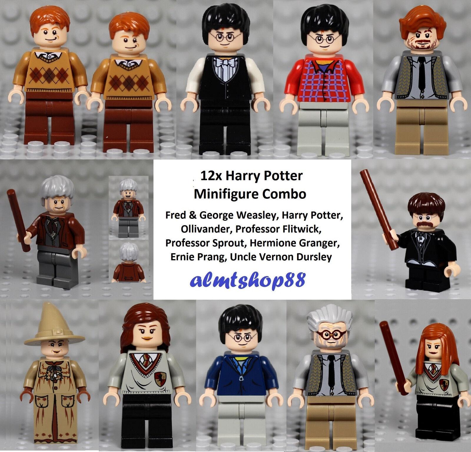 LEGO Harry Potter - 12x Minifigure Combo Hermione Weasley Ollivander Gryffindor