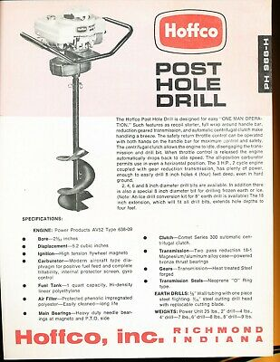 Easy Modern Hoffco Portable Power Tools c 1959 vintage print brochure ad -