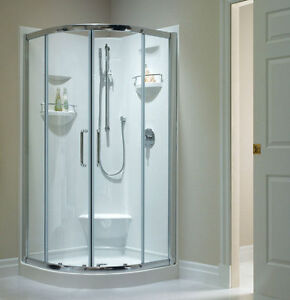 Details About Neptune Sacha 40 X Shower Unit Enclosure Backwalls And Seat Neo Round
