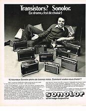 PUBLICITE ADVERTISING 024   1975   SONOLOR    transistor