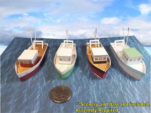 N-Scale-Fishing-Boat-Trawlers-Card-Stock-Pre-Cut-PAPER-Kits-TRW1