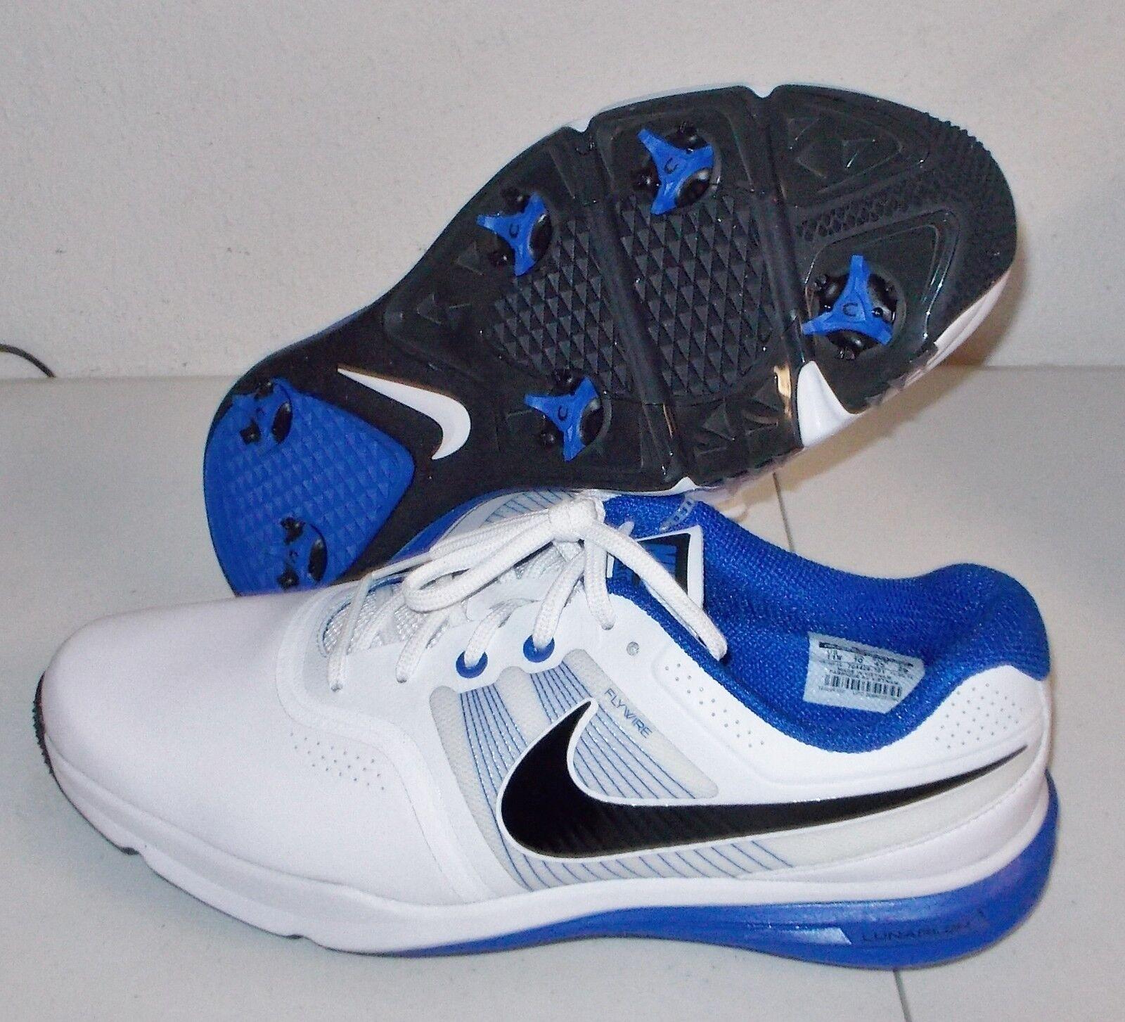 NEW NIKE LUNAR COMMAND Golf Shoes MENS Medium Width White Blue Price reduction