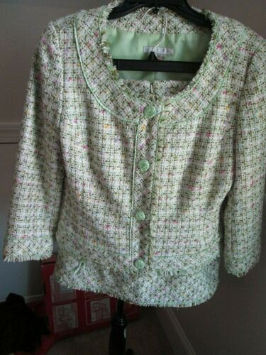 I.C.E. GREEN PASTEL COLORED TWEED WOMEN'S SZ 8 2-P