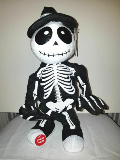 Halloween Animated Dancing Skeleton Despacito Spooky Village for sale online