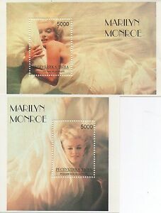 PAIR-OF-MARILYN-MONROE-MINIATURE-MNH-STAMP-SHEETLETS