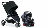 Britax 2017 B-agile Stroller & B-safe 35 Elite Travel System In Vibe