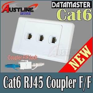 3Port-Cat6-RJ45-DATAMASTER-Wall-Plate-Cat-6-F-F-Jacks