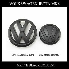 Volkswagen Jetta MK6 2011-2014 Matte Black Grille emblem&Rear Hatch emblem Badge