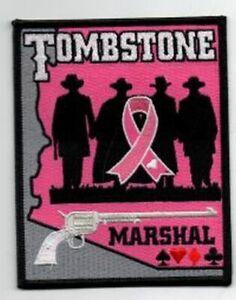 ARIZONA AZ TOMBSTONE MARSHAL PINK CANCER AWARENESS NEW PATCH POLICE SHERIFF