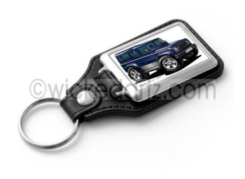 WickedKarz Cartoon Car Land Rover Defender 110 in Blue Stylish Key Ring