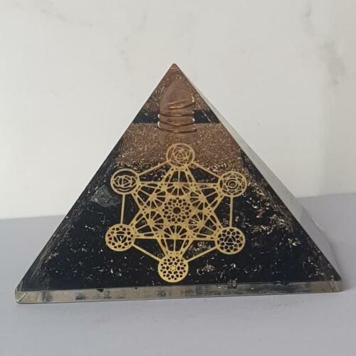 Authentic EXTRA LARGE Black Tourmaline Orgone Crystal Pyramid X-Large Free Shipp