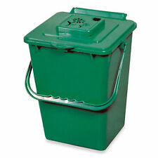 Exaco Trading ECO 2000 2.4 Gallon Kitchen Organic Compost Bin Collector, Green