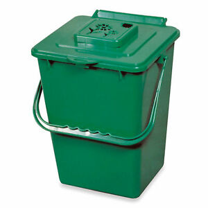 Details about Exaco Trading ECO 2000 2.4 Gallon Kitchen Organic Compost Bin  Collector, Green