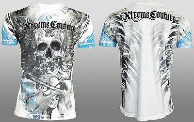 Xtreme Couture AFFLICTION Men T-Shirt EDGE Skull Wing Tattoo Biker UFC M-3XL $40