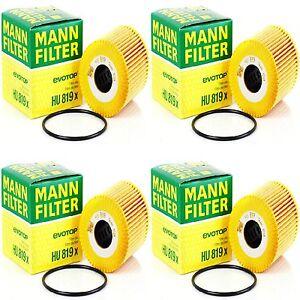 4 pcs MANN HU 819 X Oil Filter VOLVO OE# 1275810 / 1275811 / 1275811-6