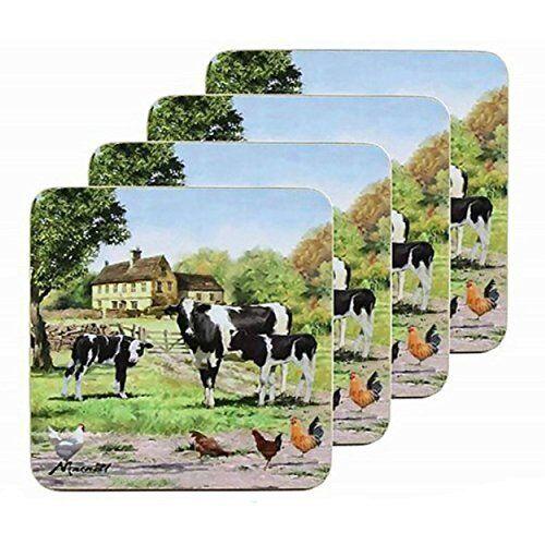 MacNeil Studios Vache et Veau Ferme Set de 4 sous-verres ou Boisson Tapis