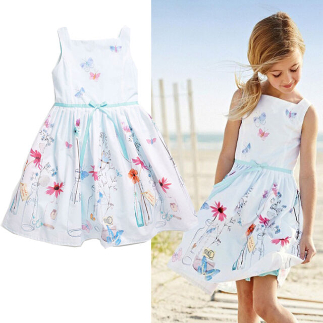 2015 Baby Kids Girls Princess Tutu Dress Party Bow Flower Gown Dresses 1-7Y