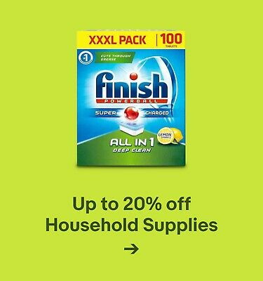 Up to 20% off Household Supplies