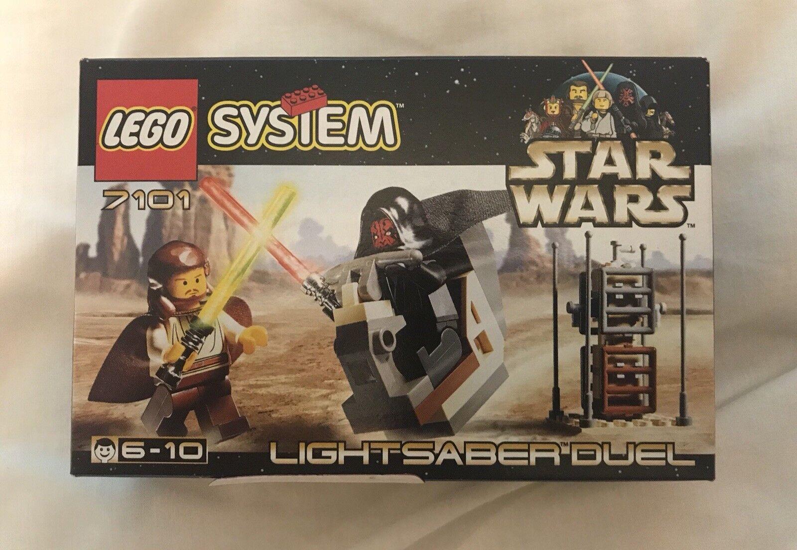 Rare 1999 1999 1999 lego star wars sabre laser Duel 7101 (objet réel en photo) ** Minty ** f4f629