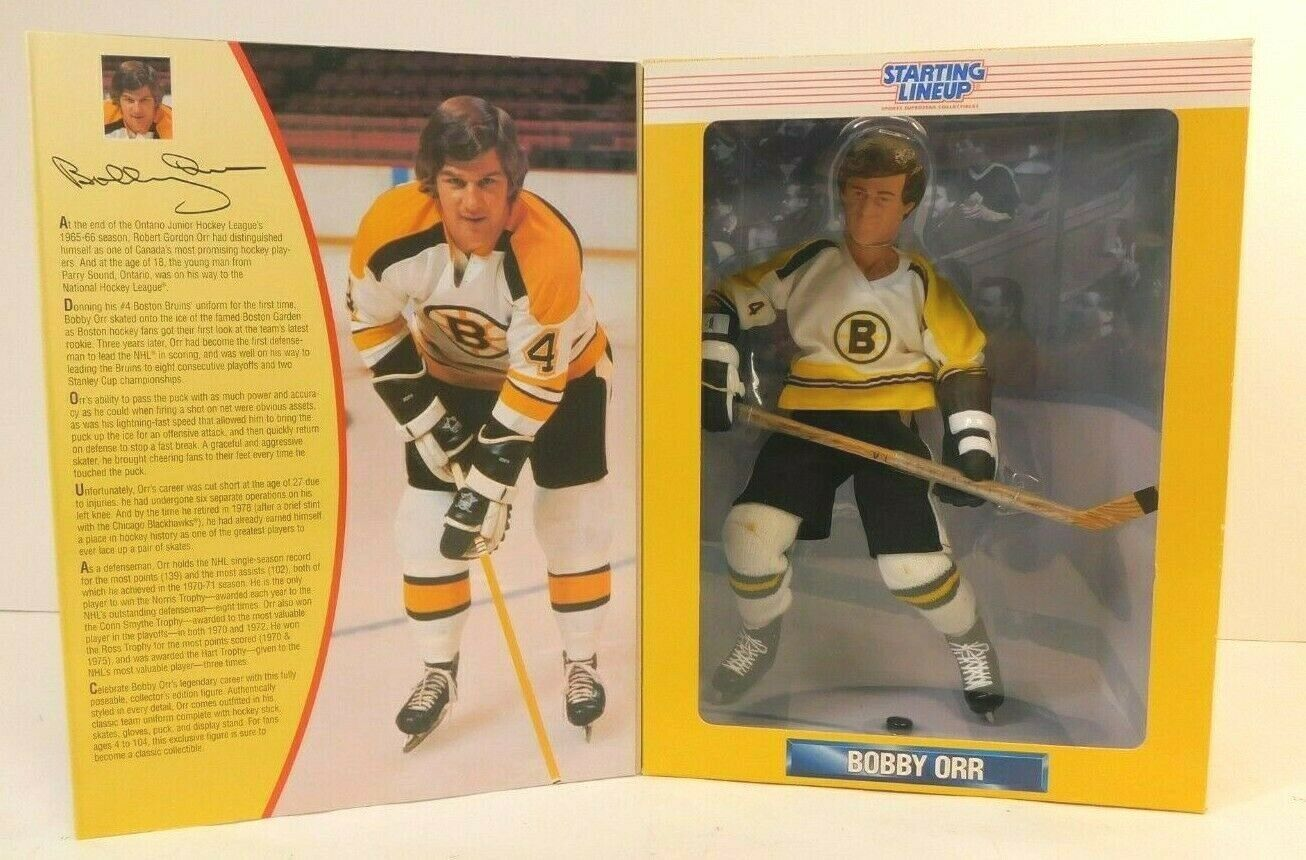 1997 12  BOBBY ORR NHL STARTING LINEUP FULLY POSEABLE LIMITED EDITION FIGURE