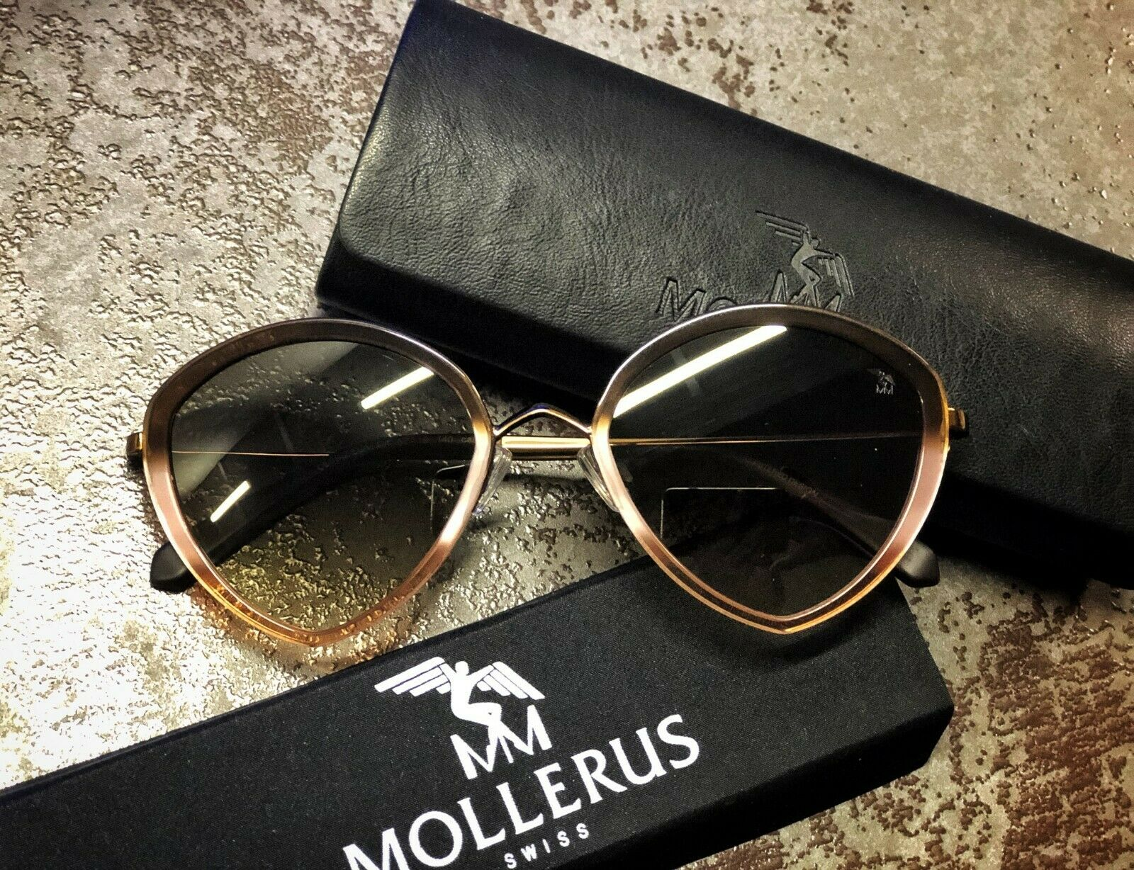 NEW Maison Mollerus PIZ ELA col.4 mit Etui SonnenbrillenSunglassesI