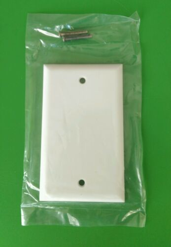 WHITE Blank 1 Gang Plastic Electric Box Wall Cover Plate