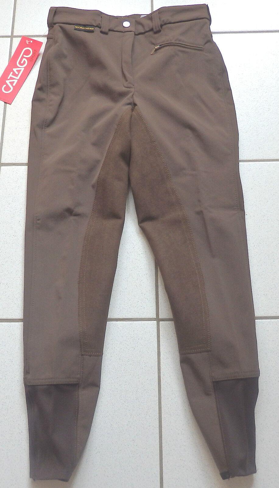 CATAGO  Softshell Kids Jodhpurs, Winter, Full Trim, Brown, Size 176 SL, (D56)  comfortably