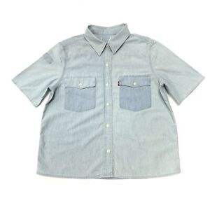 Levi-039-s-Damen-Baumwolle-Denim-Shirt-in-Light-stonewash-Gr-M