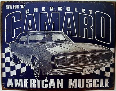 Vintage Replica Tin Metal Sign Chevy Chevrolet Camaro muscle ss 67 GM part 2135