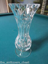 Cut Czech Bohemian Lead Crystal Vase combination of thumbprints & flowers[110*]