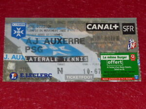 COLLECTION-SPORT-FOOTBALL-TICKET-AUXERRE-PSG-4-NOVEMBRE-2000-Champ-France