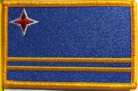 Aruba Flag Patch With Velcro® Brand Fastener Military Police Gold Emblem 9