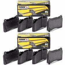 HAWK 2008-2017 AUDI S5 2010-2016 AUDI S4 B8 CERAMIC STREET FRONT REAR BRAKE PADS