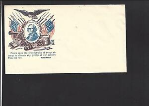 Civil War Patriotic. WASHINGTON CACHET IN MULTICOLOR. VF+