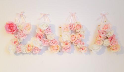 Luxury Flower Letter Nursery Decor Baby Shower Christening Childrens Room Home