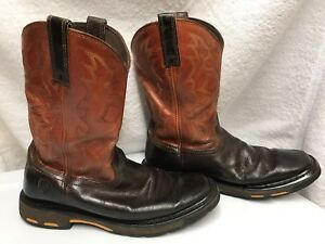 bc8cb2cabe8 Details about Mens Ariat Workhog Western Boots Soft Square Toe Orange Size  US 9EE 10005888