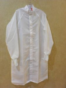 Worklon White Clean Room Lab Coat Size Small Great For