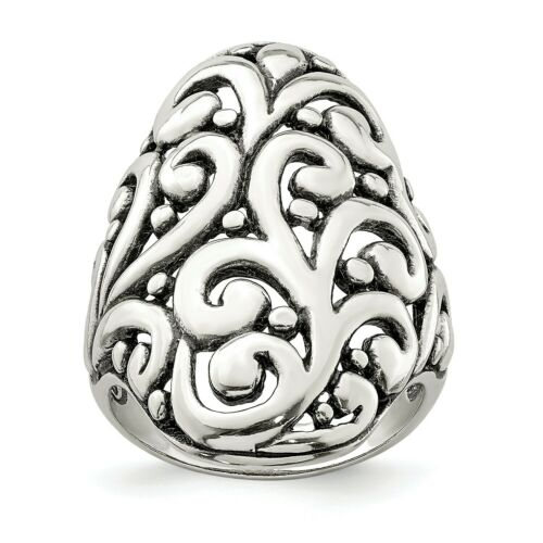 5.63g SS Antiqued Filigree Ring Metal Wt